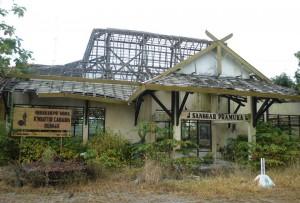 Inilah Kondisi Gedung Sanggar Pramuka Demak sekarang ( Foto: M.Sutrimo )