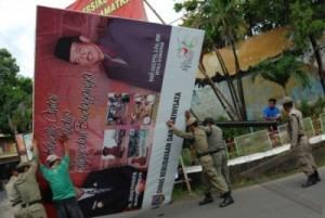 Caleg Dilarang Pasang Baliho di Desa