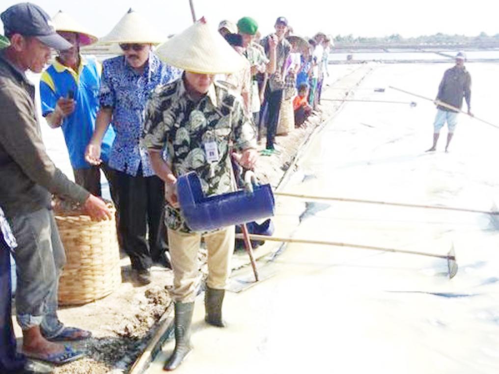 Gubernur Jateng Dukung Petani Garam Gunakan Geomembran