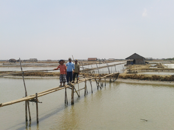 Petani Tambak Garam Demak Harapkan Jembatan Permanen