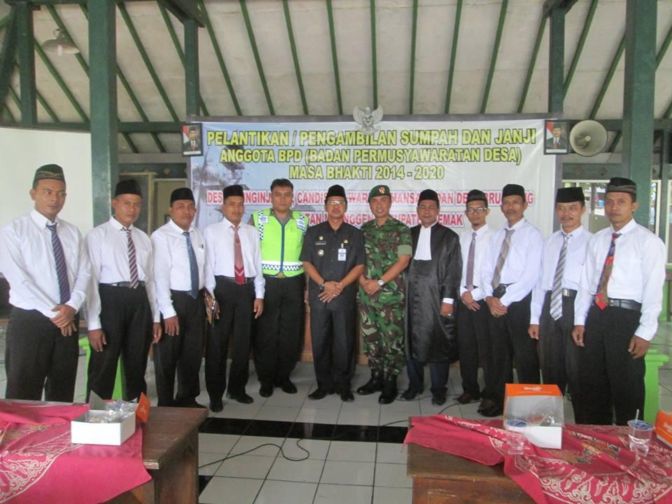 Anggota BPD Desa Candisari Mranggen Dilantik