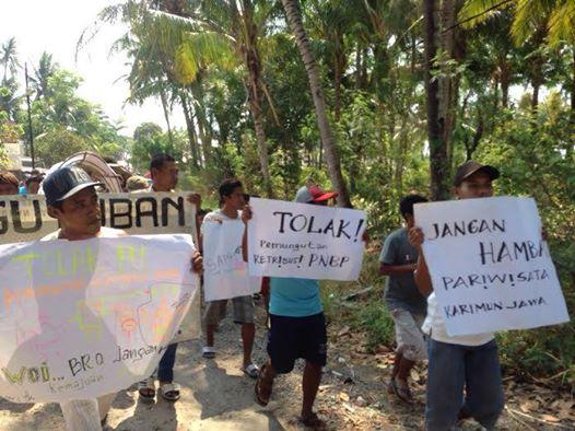 Warga Karimunjawa Demo , Retribusi Wisatawan Memberatkan