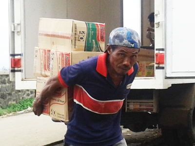 Nur Sahid , Kerja Berbekal Tenaga Jalani Dengan Senang Hati