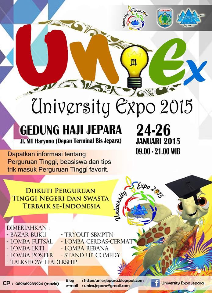 UNIVERSITY EXPO 2015 DIGELAR DI  GEDUNG HAJI KABUPATEN JEPARA