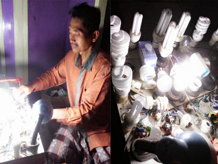 Dokter Lampu dari Troso , Bikin Rongsokan Jadi Terang Kembali