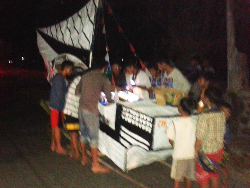 Takbir Keliling di Desa Kedungmutih , Arak Kapal dan Ikan Raksasa