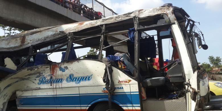 Waduh !!!! Sopir Bus Rukun Sayur Yang Kecelakaan Ternyata Kenek