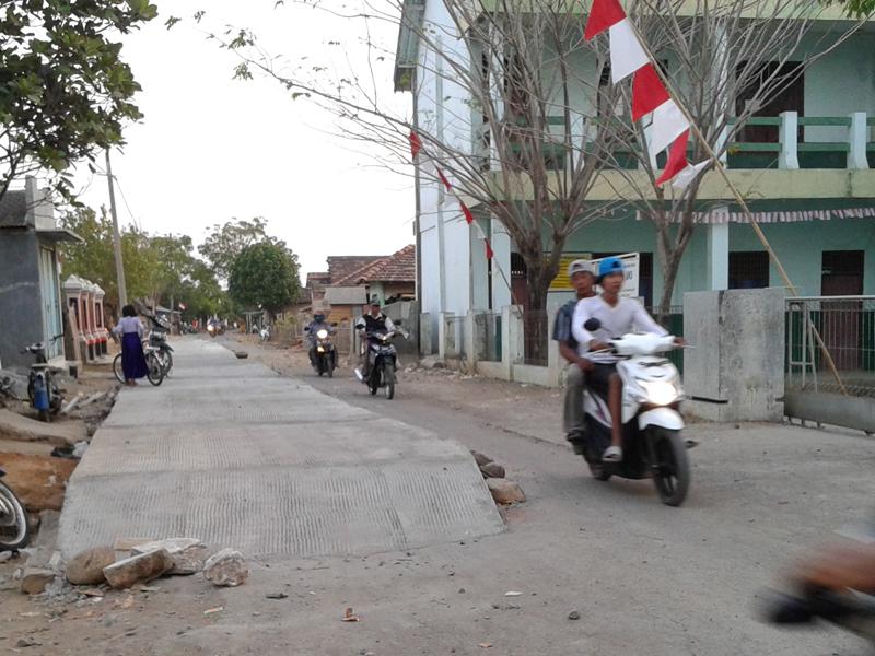 Nyicil Ayem , Jalan Raya Kedungmalang –Semat Mulai Diperbaiki