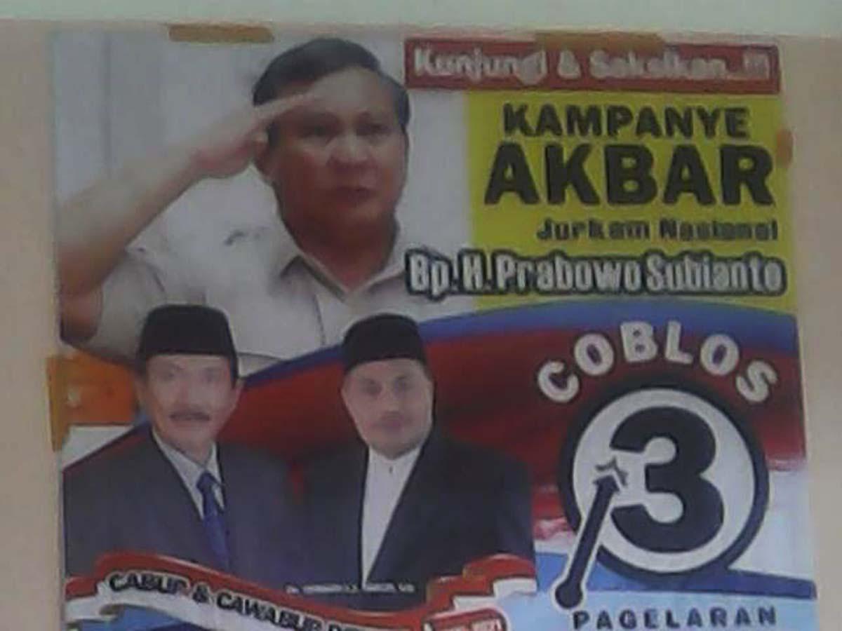 Hari ini Prabowo Subianto  Beri Semangat Paslon 3 HARUM