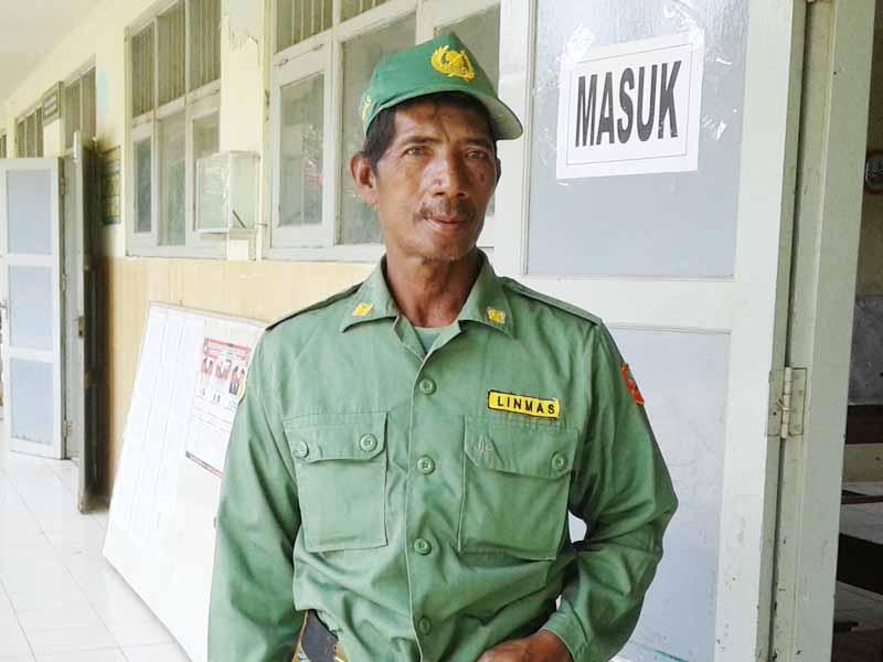 Sukarno Linmas Kedungmutih, Jaga TPS Tugas Rutin Setiap Pemilu