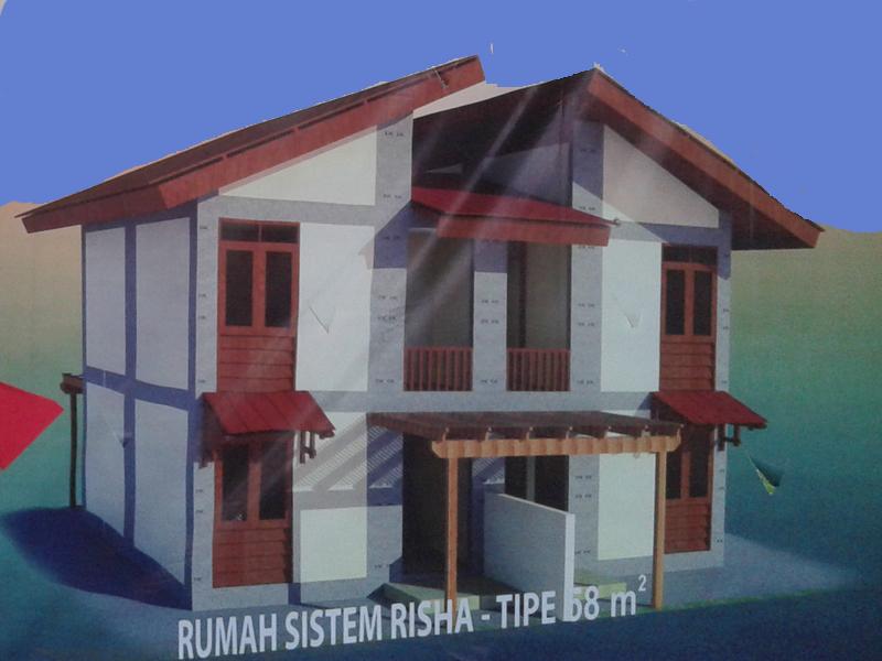Inilah Konstruksi Rumah Nelayan Kedungmalang , Menggunakan Sistem Risha
