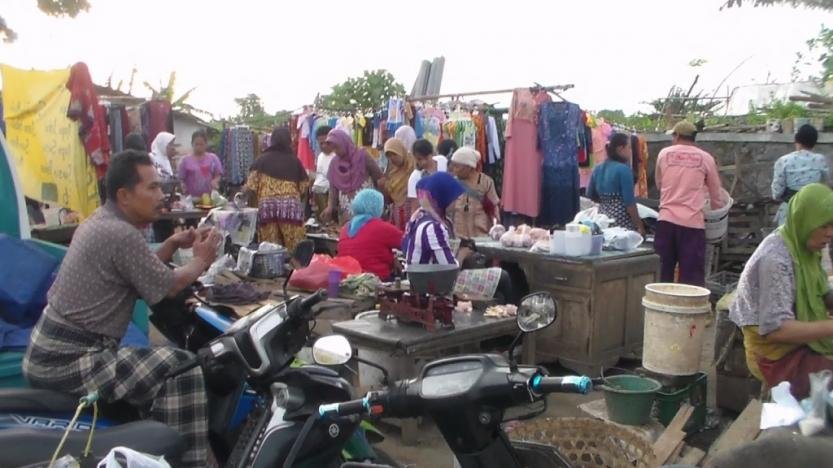Pasar Karangaji Butuh Atap Untuk Pedagang