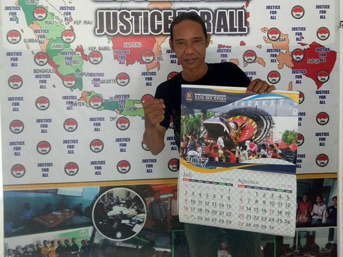 Hasil Karyanya Di Klaim Bank BKK Jepara,  Seniman Asal Jepara Mengadu Ke LBH DEMAK RAYA.