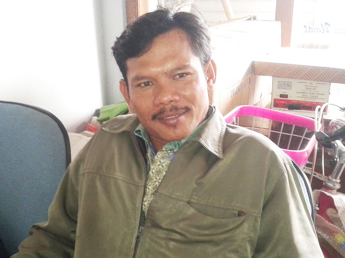 Mukhid Bakal Calon Kepala Desa Kendalasem, Modalnya  Semangat Membangun Desa