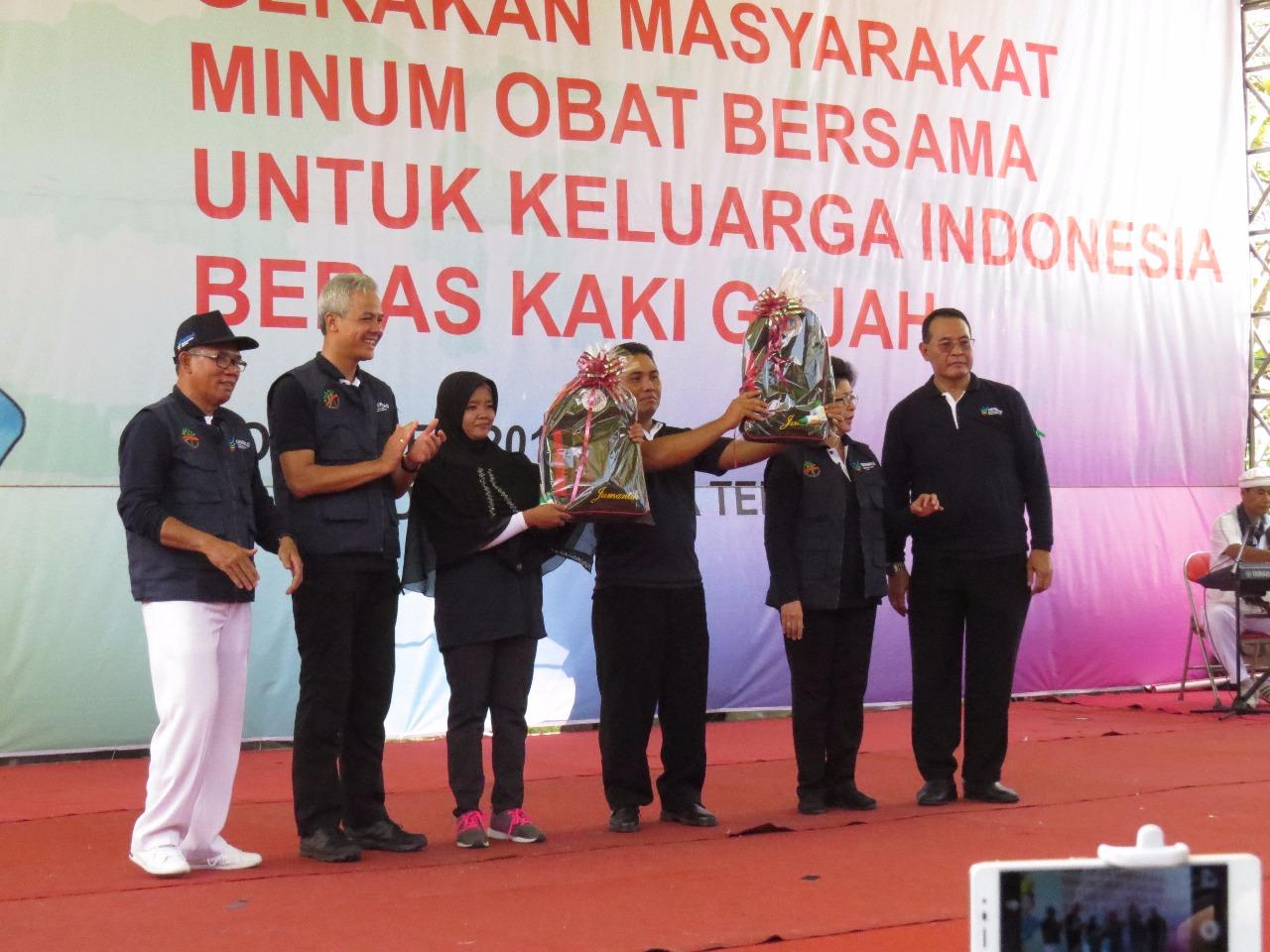 Menteri Kesehatan RI Nila Farid Moeloek, Canangkan BELKAGA tahun 2017  di Jatisono Gajah