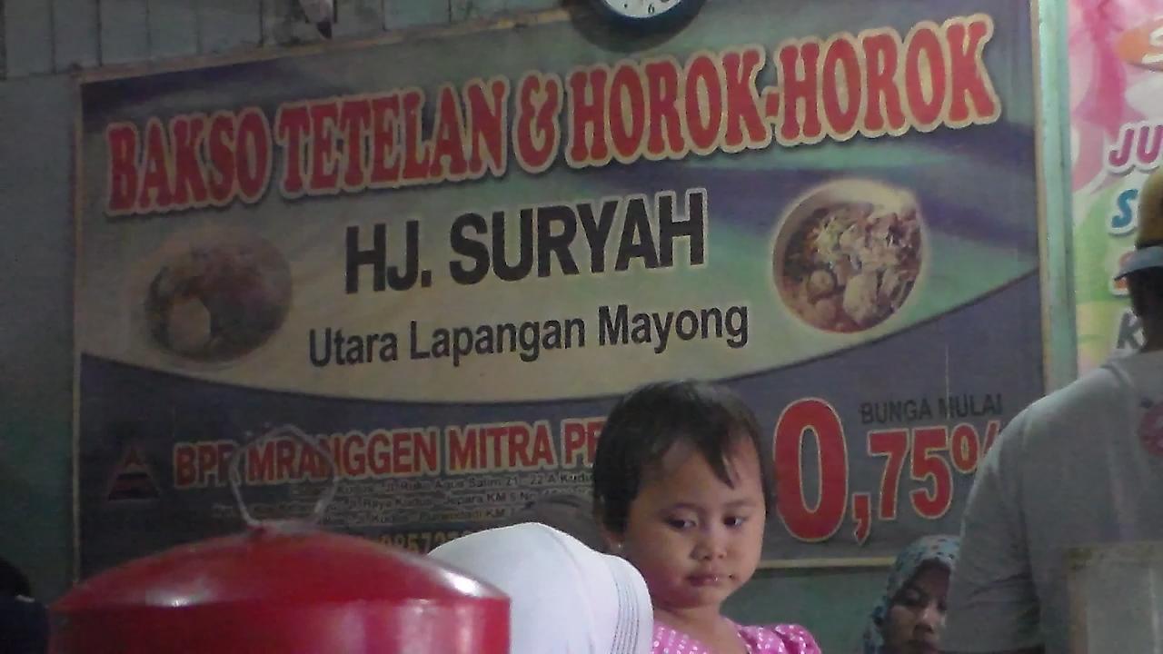 Bakso Tetelan Hj. Suryah Mayong, Mak Nyus dan Sudah Puluhan Tahun