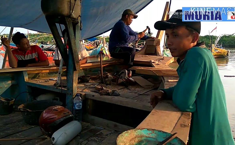 Melihat Nelayan Karangaji Jepara , Kondisi Sepi Butuh Bantuan Perbaikan Perahu