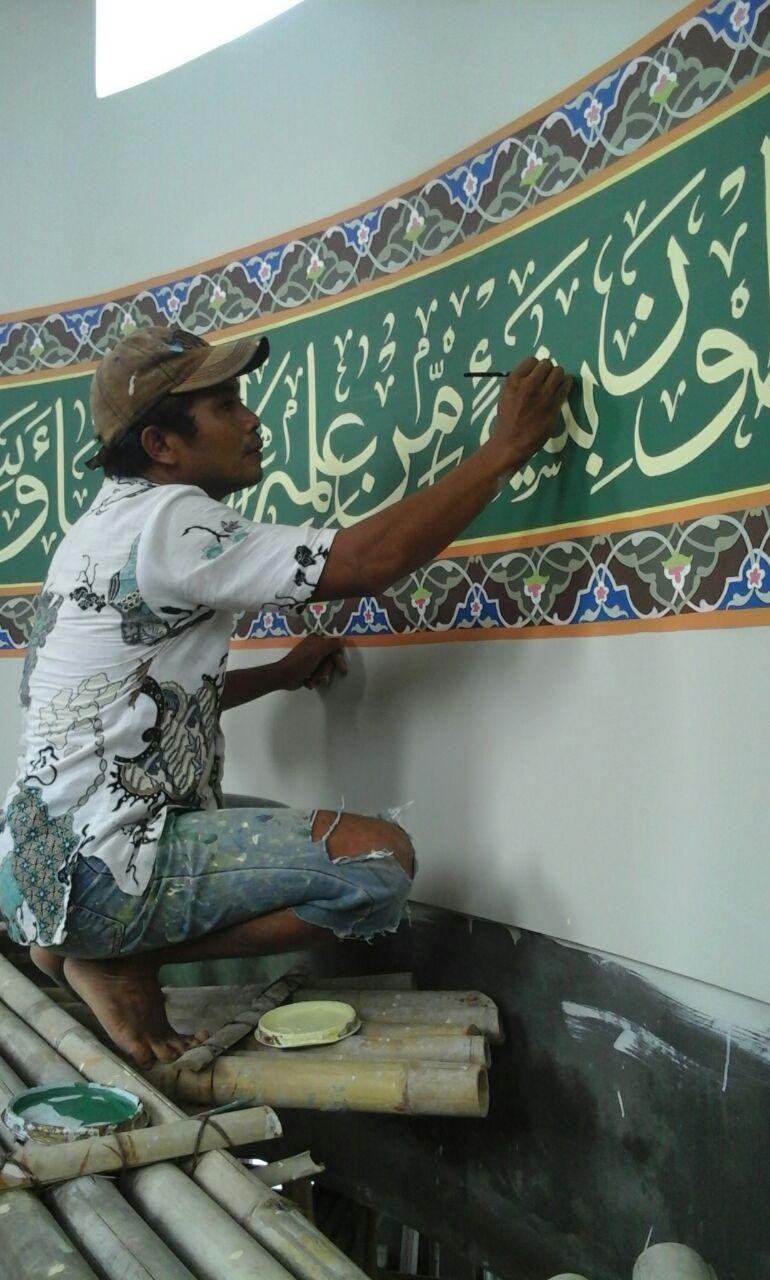 Mudasir  Tedunan Jepara , Terima Jasa Tulis Khot  Masjid dan Musholla