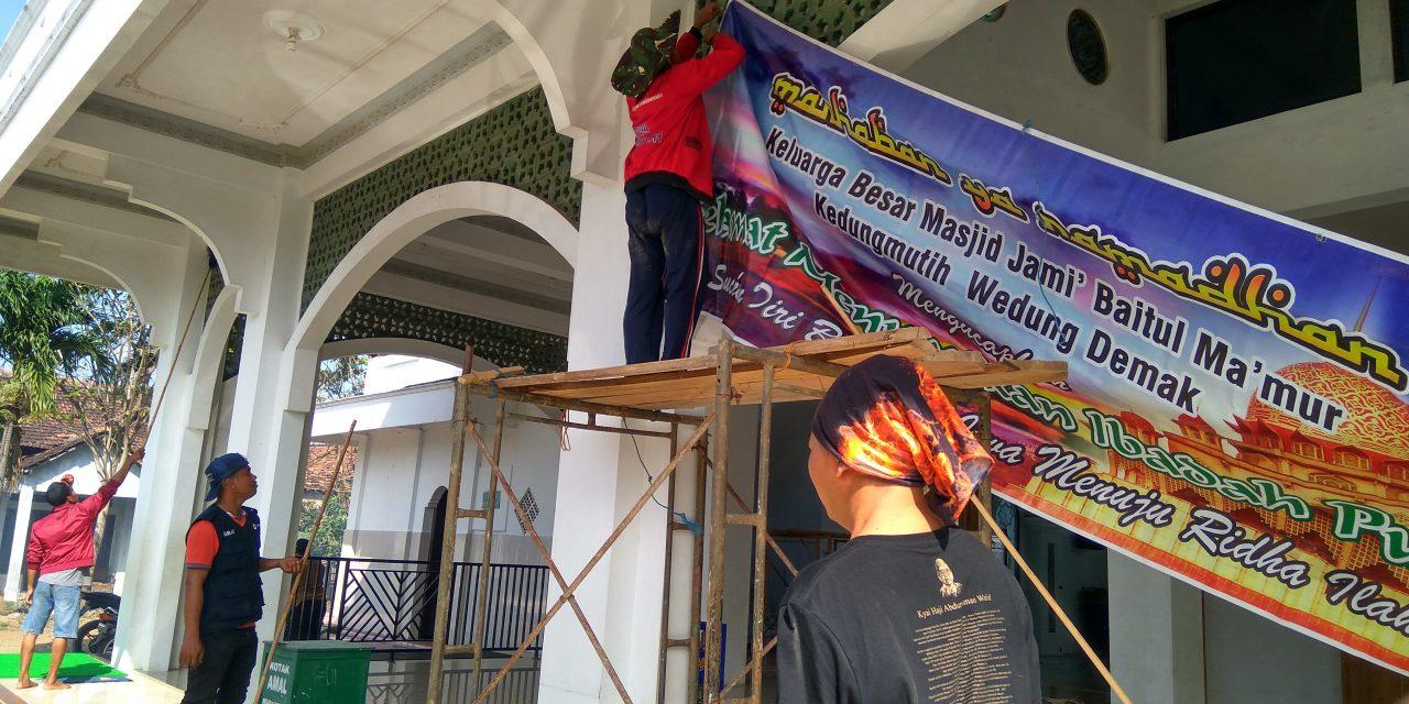 Sibat PMI Kedungmutih Giat Bersih Bersih Masjid Sambut Bulan Suci Ramadhan