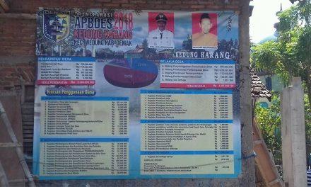 APBDes 2018 Desa Kedungkarang Capai 2,38 M