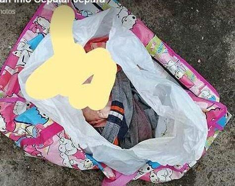 Miris !!!!  Bayi dibuang di tempat sampah , MD di duga hasil hubungan gelap