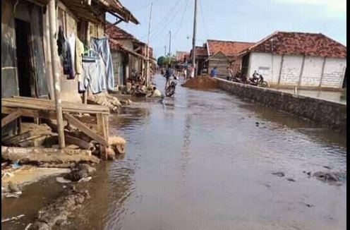 Desa Babalan Dan Kedungmutih Demak  Darurat Rob, 2 Tahunan Rob Meninggi Genangi Perkampungan