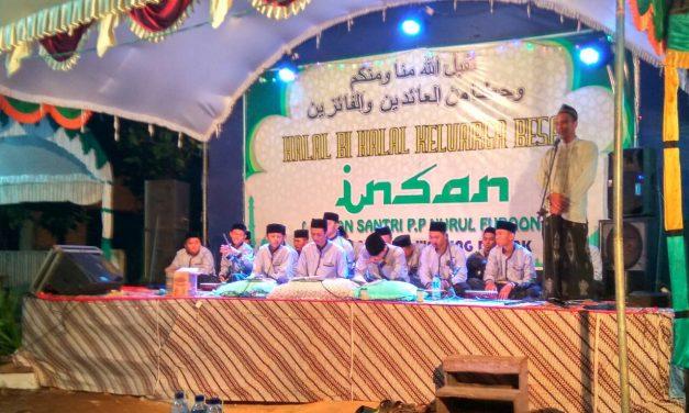 "Halal Bihalal ""INSAN"" , Satukan Santri Untuk Kemajuan Pondok Pesantren Nurul Furqon Demak"