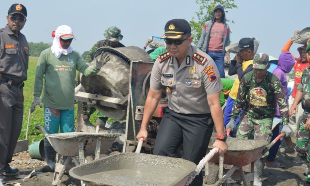 Kapolres Demak  Siap SukseskanTMMD sengkuyung tahap II Tahun 2018 di Desa Kebonsari