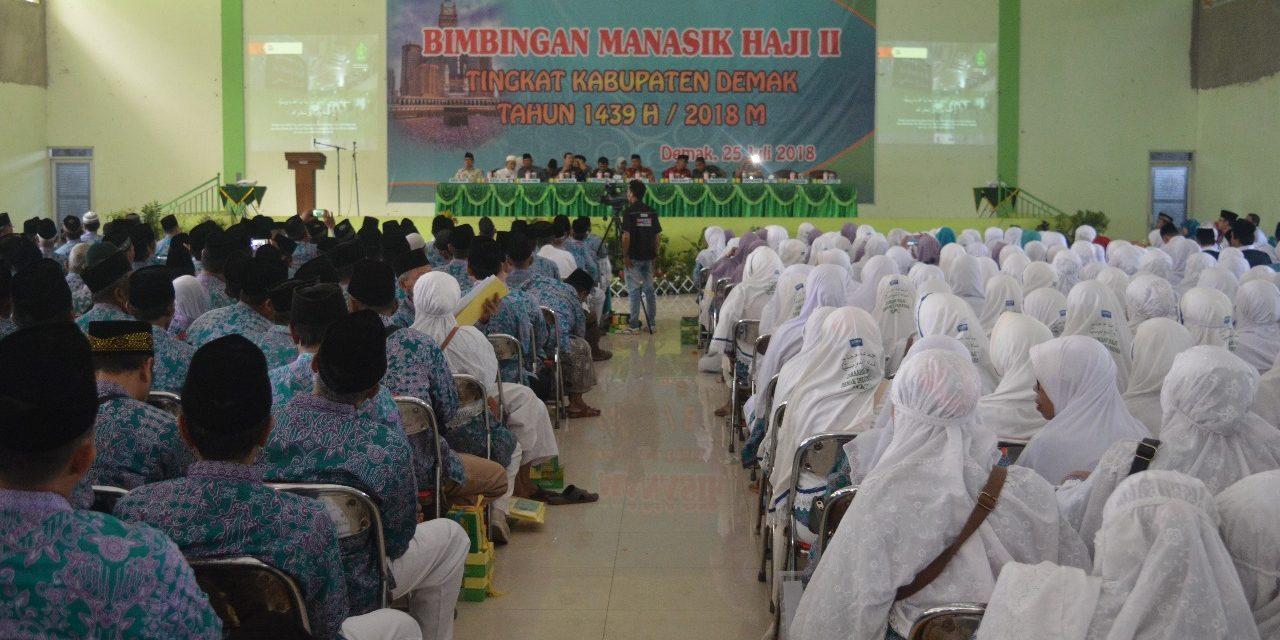 Demak Peringkat 2 Jawa Tengah , Berangkatkan Jamaah Haji sebanyak 1.710  Orang