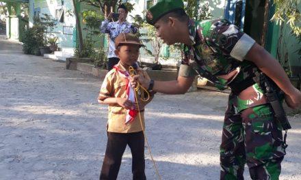 Rizki Siswa kelas 6 MIN Jungpasir Demak , Ingin jadi TNI