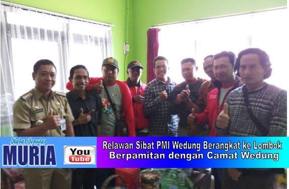 8 Relawan Sibat PMI Wedung di Kirim Ke Lombok Bantu Evakuasi Korban Gempa Bumi
