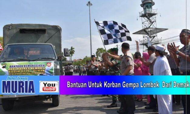 Demak  Kirim Bantuan Gempa Ke Lombok