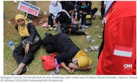 Minta Diangkat PNS, Ribuan Guru Honorer Demo Istana