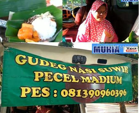 Menikmati  Gudeg Nasi  Suwir Yu Sri , di Halaman Pasar Kalinyamatan Jepara