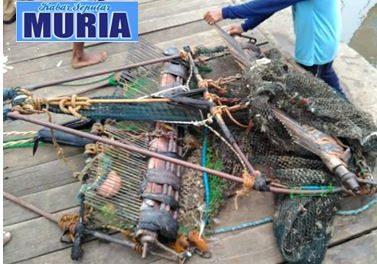 """Inilah Bentuk Alat Tangkap Ikan """"Garuk"""",  Yang Di Razia Nelayan Desa Kedungmalang Jepara"""