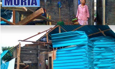 Rumah Mbah Kasmo Kedungkarang Demak , Porak Poranda di Hantam Angin Lesus