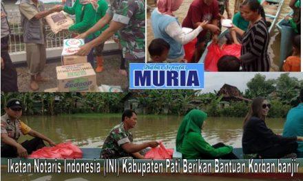 Ikatan Notaris Indonesia (INI) Kabupaten Pati Berikan Bantuan Korban Banjir