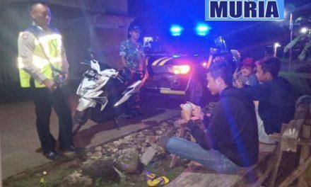 Cegah Kriminal dan Gangguan Kamtibmas , Koramil dan Polsek Patroli Malam Bersama