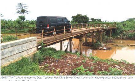 Jembatan Tua Tedunan – Sowan Kidul Berbahaya , 4 Kali Diusulkan Musrenbangdes