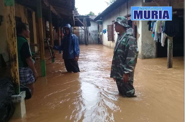 Ratusan Rumah Warga Alas Dowo Pati Tergenang Air , Akibat Luapan Air Sungai