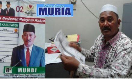 Ini Dia Caleg Anda  , Haji Muhdi  Mantan Kepala Desa Kedungkarang Kini Caleg Partai Gerinda DPRD Kabupaten Demak