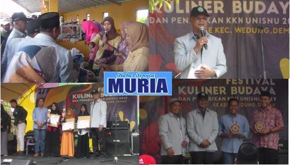 Festival Kuliner dan Budaya dan Penarikan KKN UNISNU Jepara  di Demak Meriah