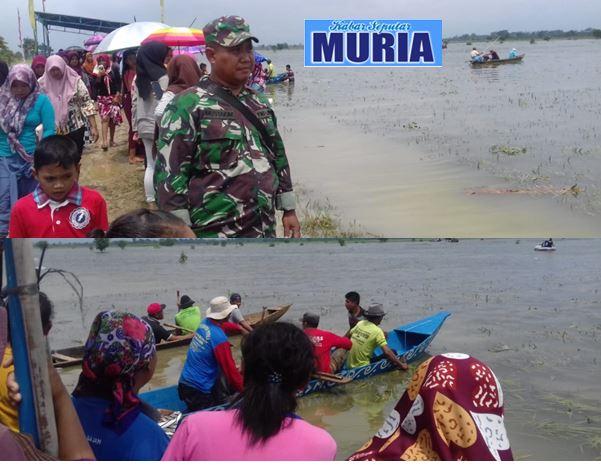 Warga Desa pasuruhan Pati Lupakan Musibah Banjir ,  Lewat Festival Perahu Rakyat