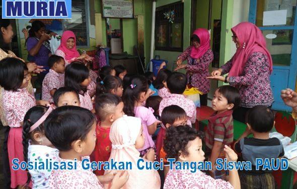 PAUD SBB Pelangi Nusantara 10 Salatiga Sosialisasikan Gerakan Sikat Gigi dan Cuci Tangan