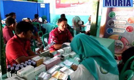 Kodim 0718/Pati Gandeng RS KSH Gelar Pengobatan Gratis Di Lokasi TMMD Desa Pakem