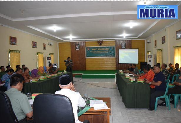 Rakor Evaluasi Persiapan Penutupan TMMD Sengkuyung I 2019
