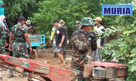 TMMD di Pati Tentara Dan Rakyat Menyatu Dalam Kegotongroyongan