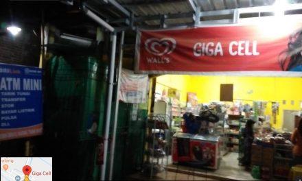 Tarik Setor Tunai dan transfer Antar Bank bisa di Giga Cell Kedungmalang jepara