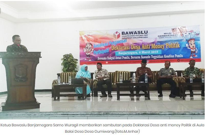 Desa Gumiwang Banjarnegara Tolak Politik Uang Di Pemilu  2019