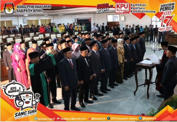 Selamat , Anggota DPRD Jepara Periode 2019-2024 Dilantik